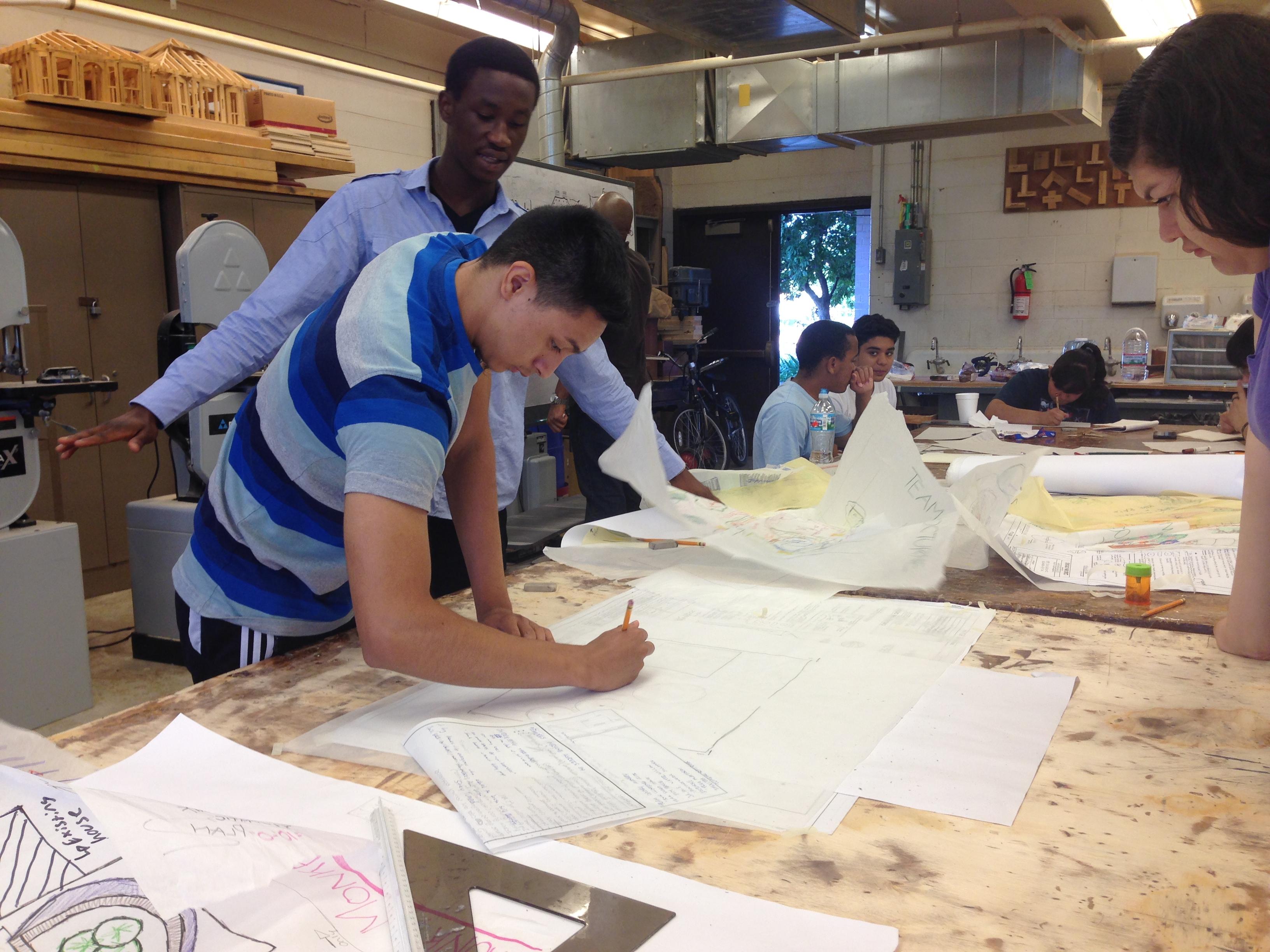 Site Plan team working hard