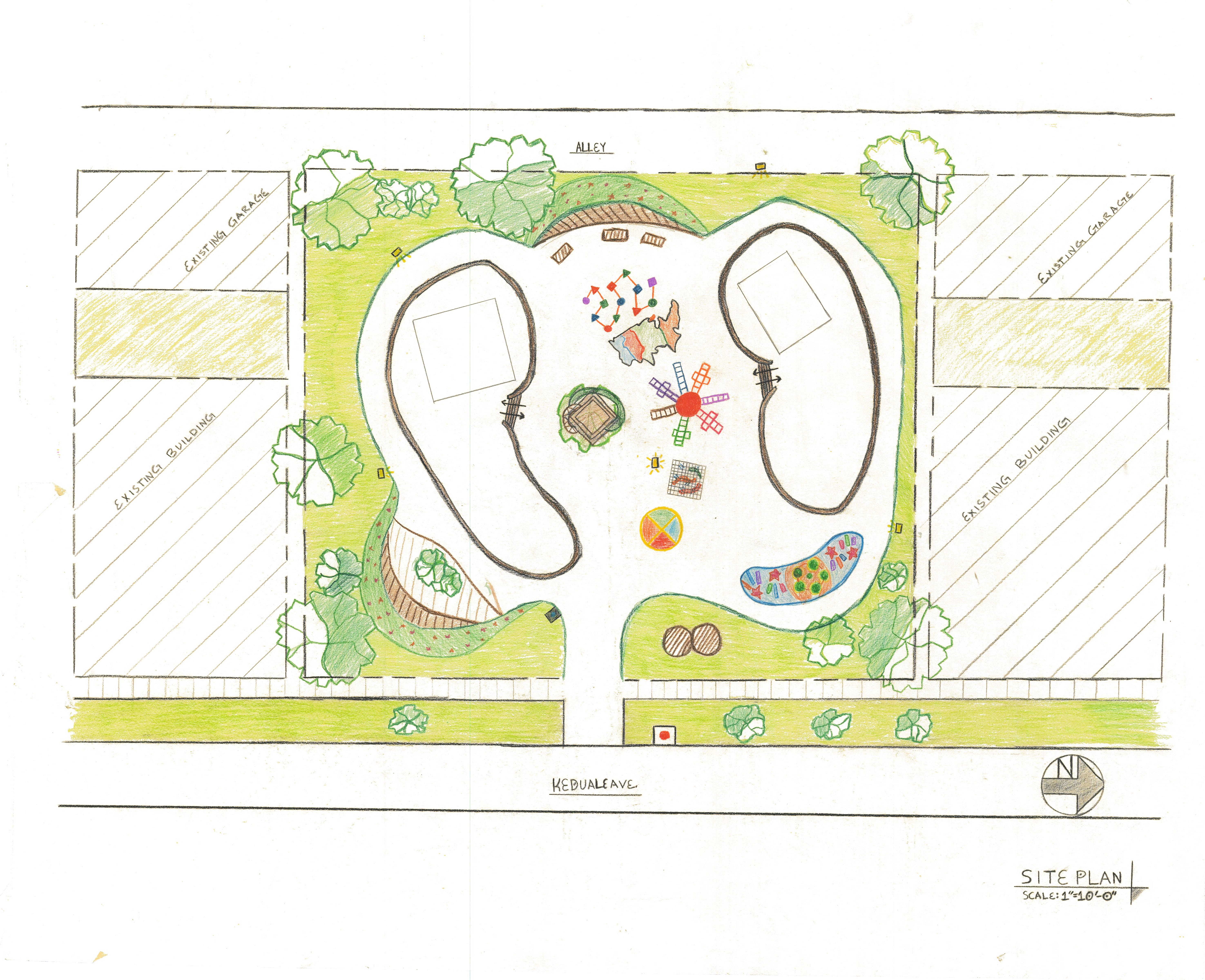 Hand Rendered Site Proposal